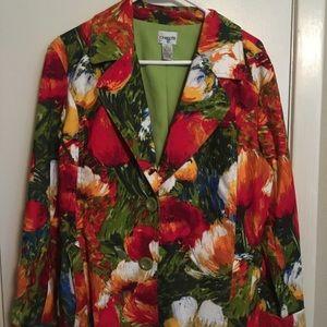 Chico's size 2 beautiful colorful blazer